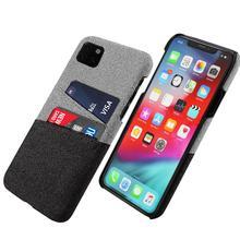 Для iphone 11 Pro Max 11 pro Чехол тонкий PC защитный матовый тканевый чехол для iphone 5 5S SE 6 6s 7 XR X XS Чехол кошелек для карт