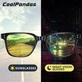 Солнцезащитные очки унисекс, брендовые квадратные фотохромные солнечные очки в ретро стиле, в две точки, с заклепками, дневное и ночное виде...