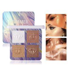 все цены на 4 Colors Highlighter Illuminator Makeup Glow Kit Face Brightener Contouring Liquid Highlighter Powder Palette Bronzer High Gloss