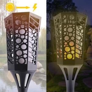 Image 4 - Explosion outdoor solar lawn light LED flame decoration lamp new garden landscape light waterproof wall lamp emergency light