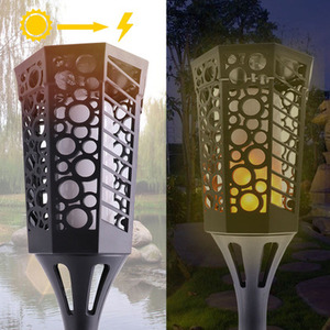 Image 4 - Explosion outdoor solar rasen licht LED flamme dekoration lampe neue garten landschaft licht wasserdichte wand lampe notfall licht