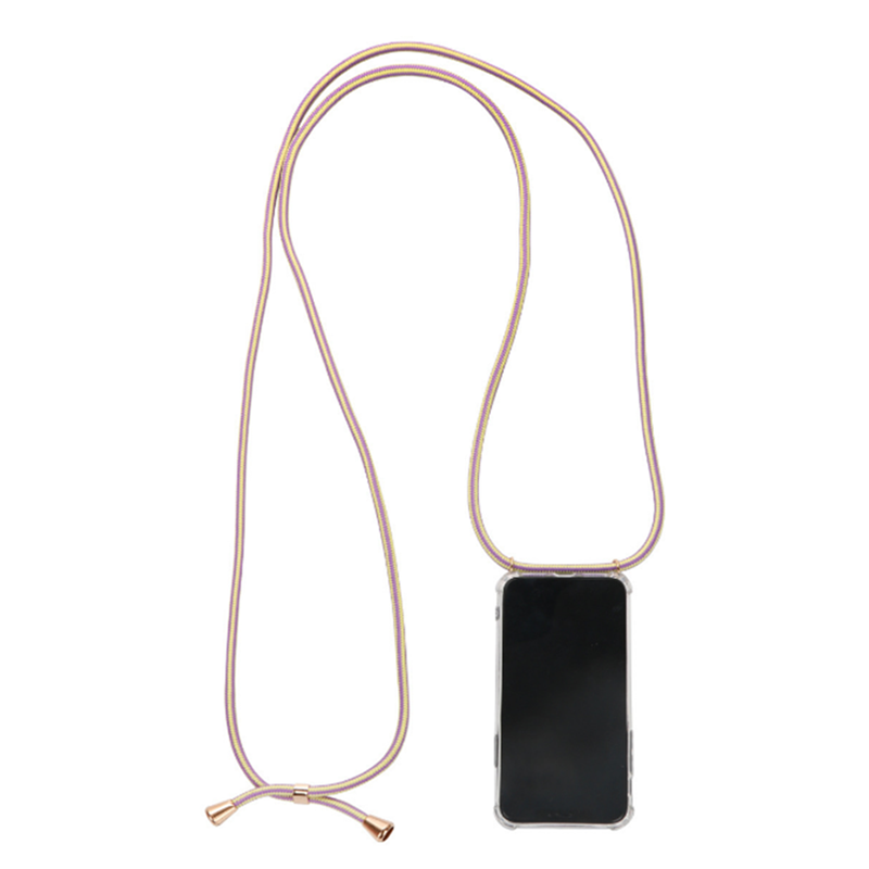 Transparent Soft TPU Cell Phone Case With Lanyard Necklace Shoulder Neck Strap Rope Cord For Iphone 6 7 8 Plus X Xs Xr Xs Max