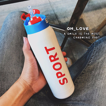 500ML Thermos one touch Vacuum Flask Stainless Steel 304 Straw Sport Thermal Cup shaker Coffee Mug cold Water Bottle Office Cups new hot 350 500ml stainless steel thermos cup mini bottle vacuum flask straw coffee thermal thermoses cans cups thermo cup mug