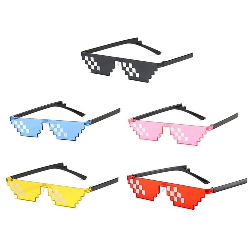 Super Cool Animation Mosaic Interesting Pixel Glasses Party Eyeglasses Mosaic Vintage Eyewear Unisex Gift Toy Glasses