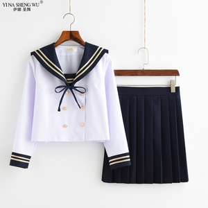 Chorus Performance School JK Uniform Dress Long Sleeve Shirt Pleated Skirt Sailor Suit Winter Japan School Girl Seifuku Uniforms