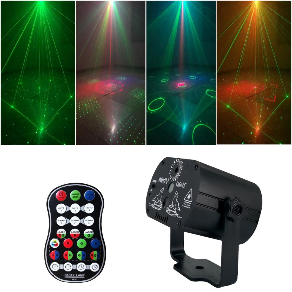 DJ Disco Party Lighting Stage Light Effect USB Charge Laser Light Projector For Home Wedding Birthday Dancing Party Decoration