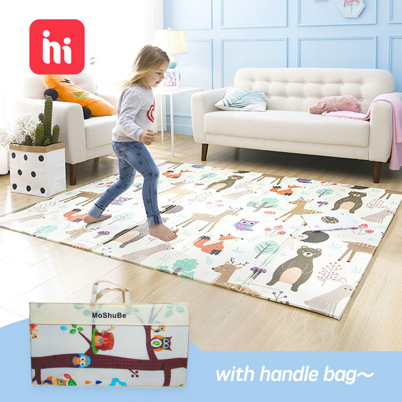 200cm*180cm XPE Baby Play Mat Toys For Children Rug Playmat Developing Mat Baby Room Crawling Pad Folding Mat Baby Carpet