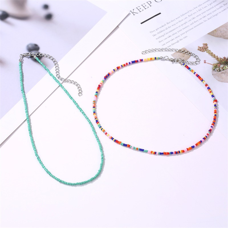 Statement Necklace \u0421olorful Blue Jewelry Embroidery Beads Summer Interesting Design Romantic African multicolour Ethnic Jewelry Gift Woman