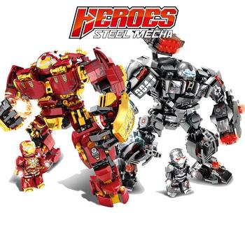 Marvel Building Blocks Bricks Iron man Hulkbuster War Machine Super Heroes Avengers Infinity War Children Kids Toys Gifts Kits 8in1 avengers 4 iron man vs hulk mech building blocks bricks boy toys b696