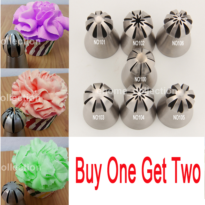 2PCS/Set Cup Cake Stainless Steel Sphere Ball Shape Icing Piping Nozzle Pastry Tips Cupcake Buttercream Decorating Baking Tools