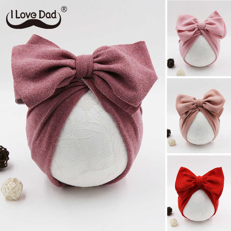 Cute Bows Baby Hat Knot Intant Baby Girl Boy Bonnet Newborn Turban Soft Children Kids Toddler Beanie Cap Photography Props