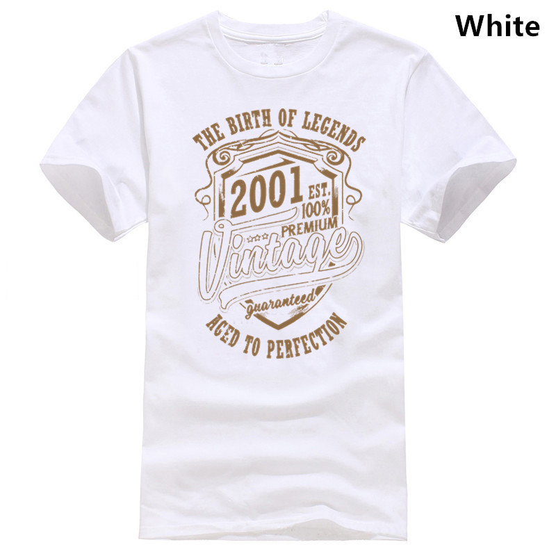 Aged To Perfection 2001 Mens Funny 18th Birthday T-Shirt 18 Year Old Present