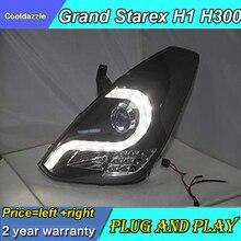 1 пара светодиодный фонарь i800 iMaX grand starex H300 для hyundai H1 передняя фара 2008-2013 с дневным ходовым светом