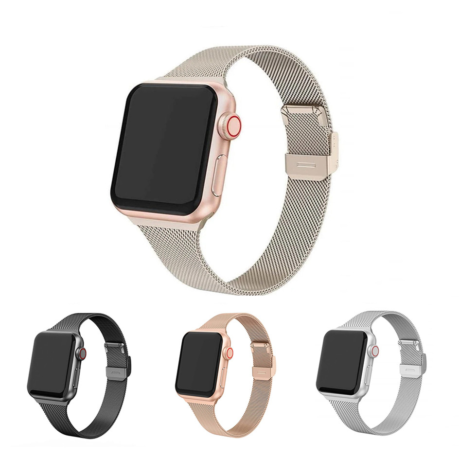 Metal Strap for Apple Watch Series 5 4 3 2 1 38mm 40mm 42mm 44mm Bracelet for iWatch Accessories15