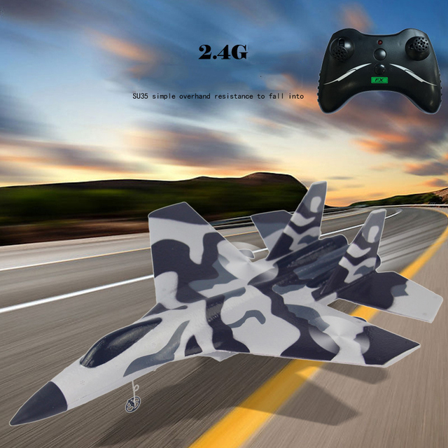 New SU-35 RC Remote Control Airplane 2.4G Remote Control Fighter Hobby Plane Glider Airplane EPP Foam Toys RC Plane Kids Gift 5