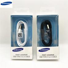 Samsung cabo usb tipo-c original, cabo de dados de carregamento rápido para galaxy s10 s9 s8 note9 note8 a7 a8 a10 a70 a60 a50 a40