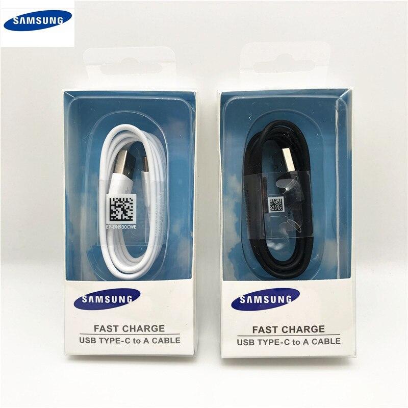 Samsung cabo de carga rápida original usb tipo-c linha de dados carregador rápido para galaxy s10 s9 s8 note9 note8 a7 a8 a10 a70 a60 a50 a40