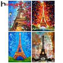 Huacan Diamond Painting New Arrivals Eiffel Tower Embroidery Full Display Paris Home Decoration Accessories Art