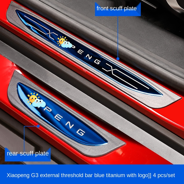 Xpeng G3 임계 바 웰컴 페달 스크래치 방지 및 짓기 방지 장식, Tucki G3 수정 스페셜