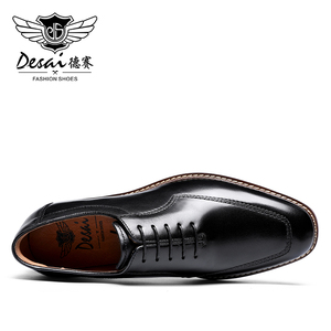 Image 3 - Desai Oxford Men Dress Shoes Genuine Leather Italian Formal Shoes For Man Party Classic Black High Korean 2020