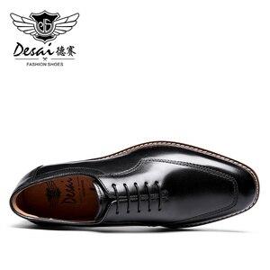 Image 3 - Мужские классические туфли оксфорды Desai, черные вечерние туфли из натуральной кожи в итальянском стиле, в Корейском стиле, 2020