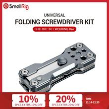 SmallRig Folding Screwdriver Kit Wrench Set Portable Hand Tool Set 4 Allen Wrenches 2.5, 3, 4, 3/16, 1 flat screwdriver  2495