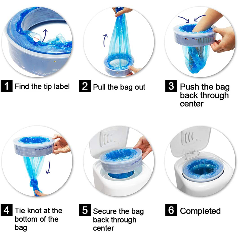 Refill-Bags Pails Diaper Waste-Replacement-Bag Bady Trash Plastic Ideal for Genie Normal