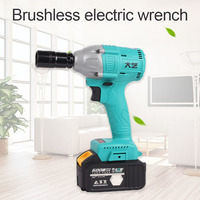 Brushless electric wrench lithium battery charging car impact wrench pedicure Wrench tool Electric Wrenches     -