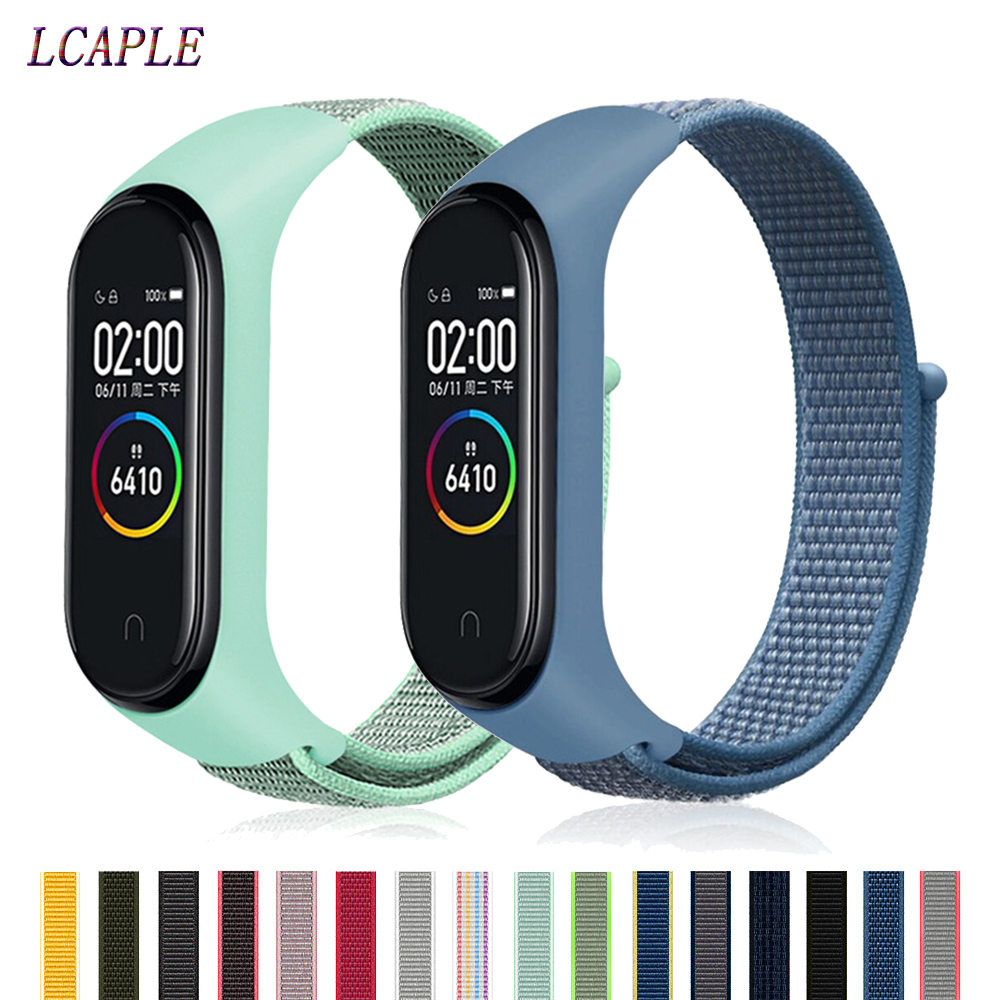 Pulseira Mi Band 4 Strap For Xiaomi Mi Band 4 3 Sports Nylon Watch Strap Breathable Bracelet Watchband Smart Watch Accessories 4