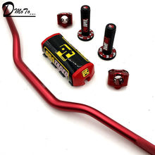 "Stang Sepeda Motor 1-1/8 ""Handle Bar Bantalan Grip Pit PRO RACING Lubang Kotoran Sepeda Motor CNC 28.5 Mm adaptor Pro Taper Grip(China)"