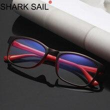 SHARK SAIL ป้องกันคอมพิวเตอร์แว่นตาชายแสงสีฟ้าเคลือบ GAMING แว่นตาป้องกัน Eye Retro แว่นตาผู้หญิง