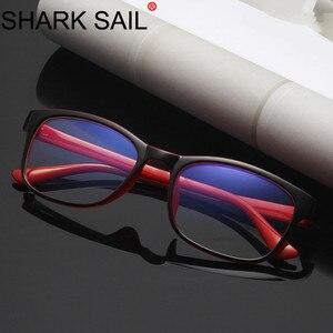 Image 1 - SHARK SEGEL Anti Blau Rays Computer Gläser Männer Blau Licht Beschichtung Gaming Gläser Für Schutz Auge Retro Brille Frauen