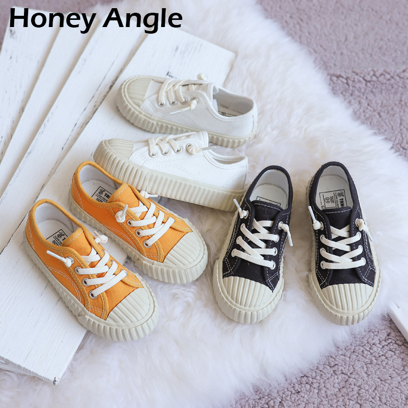 New Fashion Girl Boy Canvas Shoes Spring Autumn Casual Kids Shoes Korean Style Children Canvas Shoes Non-slip Little Girl Shoes