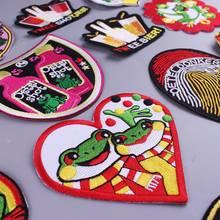 Милая Полная вышивка Oeteldonk эмблема лягушка карнавал для Нидерландов вышивка одежды нашивка для одежды аппликация сделай сам