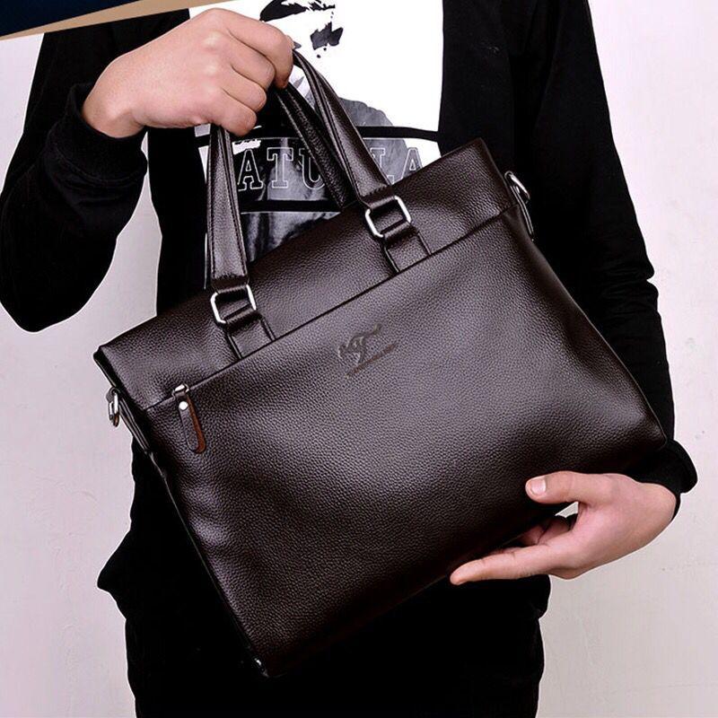Vintage Business Computer Bag Fashion Messenger Bags Men's Briefcase Shoulder Bag  Casual Men Laptop Bag Travel Leather Handbag