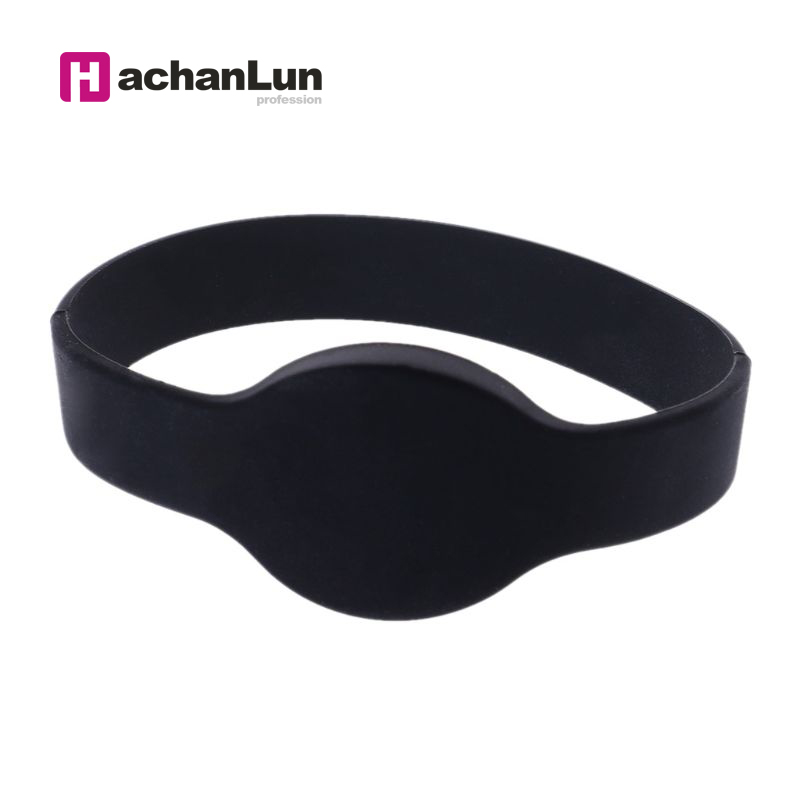 5PCS 125khz EM4100 Read Only Access Control Card Wristband TK4100  RFID Bracelet ID Card Silicone Band