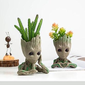 Аксессуары для украшения дома, современный декор для стола, смолы, Лиги героев, миниатюрные фигурки, статуи грута