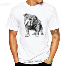 2018 Hip Hop T shirt Men Male Selling T-Shirt Aztec Bulldog Dog Design Boho Vogue Hipster Indie Cotton T Shirt