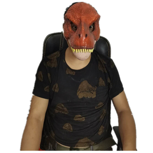 Image 4 - Dinosaur World  Mask with Opening Jaw Tyrannosaurus Rex Halloween Cosplay Costume Kids Party Carnival Props Full Head Helmet