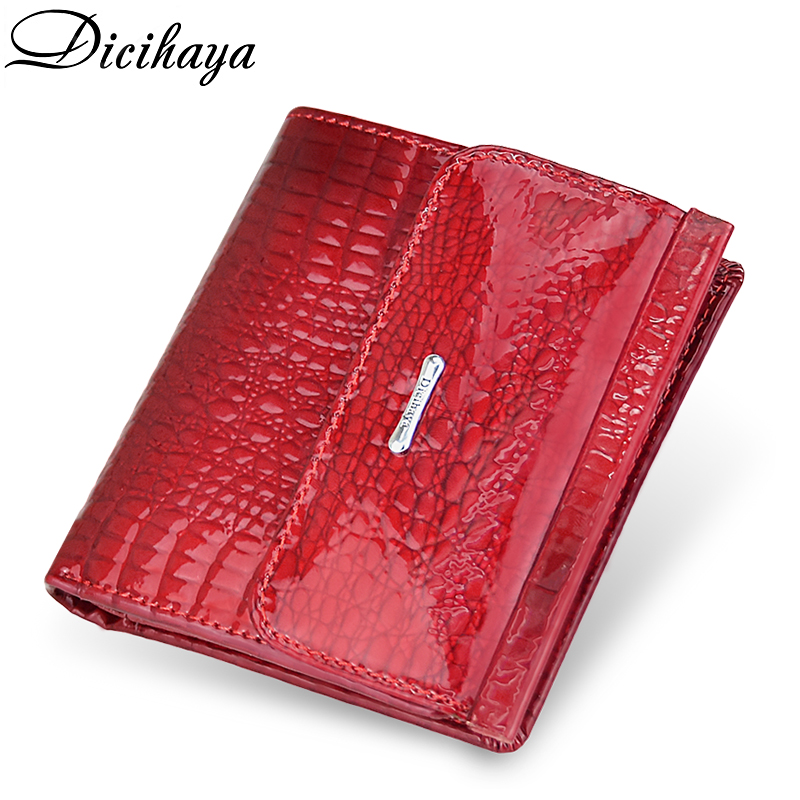 DICIHAYA Mini Wallet Women Genuine Leather Wallets Fashion Alligator Hasp Short Wallet Female Small Wallets And Purses Coin Bags