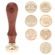 Replace Copper Head Hobby Tools Sets Wax Seal Antique Sealing Wax Stamp Wood Handle DIY Envelope Wedding Invitations