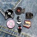 QIHE ювелирные изделия с эмалью для музыки, значок для лацкана, классический фонограф, виниловые записи, броши, значки, модные булавки, подарки...