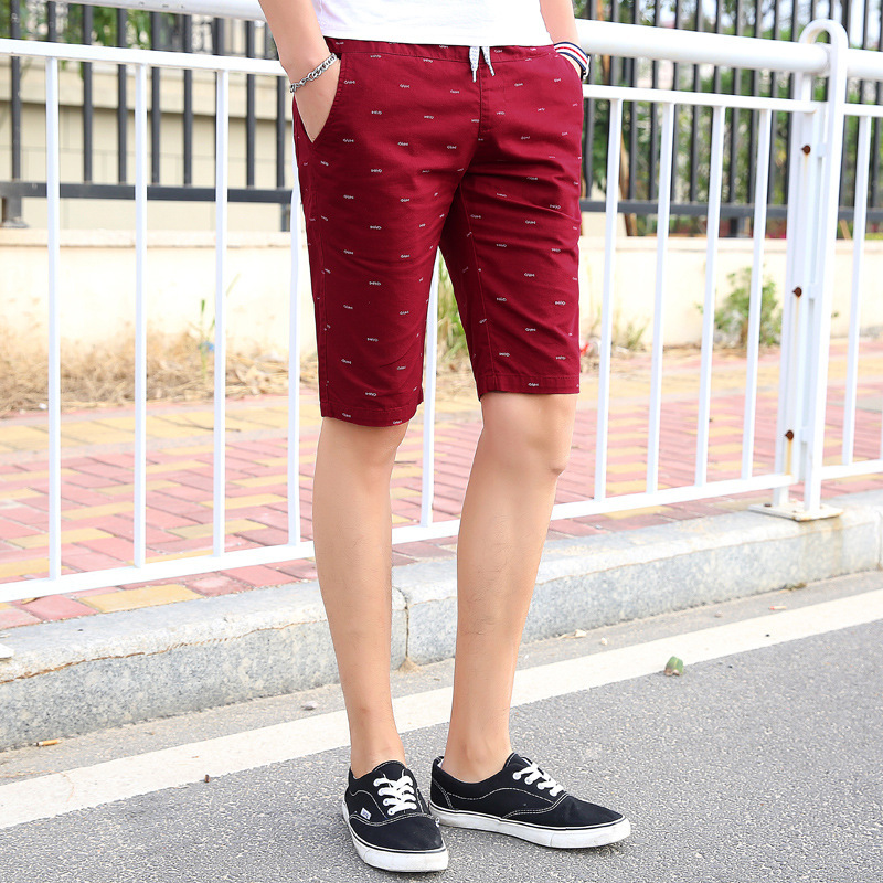 2018 Summer Short Shorts Lower Apron Teenager Fishbone Summer Men's Wear Printed Casual Men's Fifth Pants