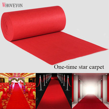 WHOVEYON Brand 1-20m Red Wedding Banquet Celebration Carpet Film Festival Outdoor Event Reward Decoration Carpet Shipping Free
