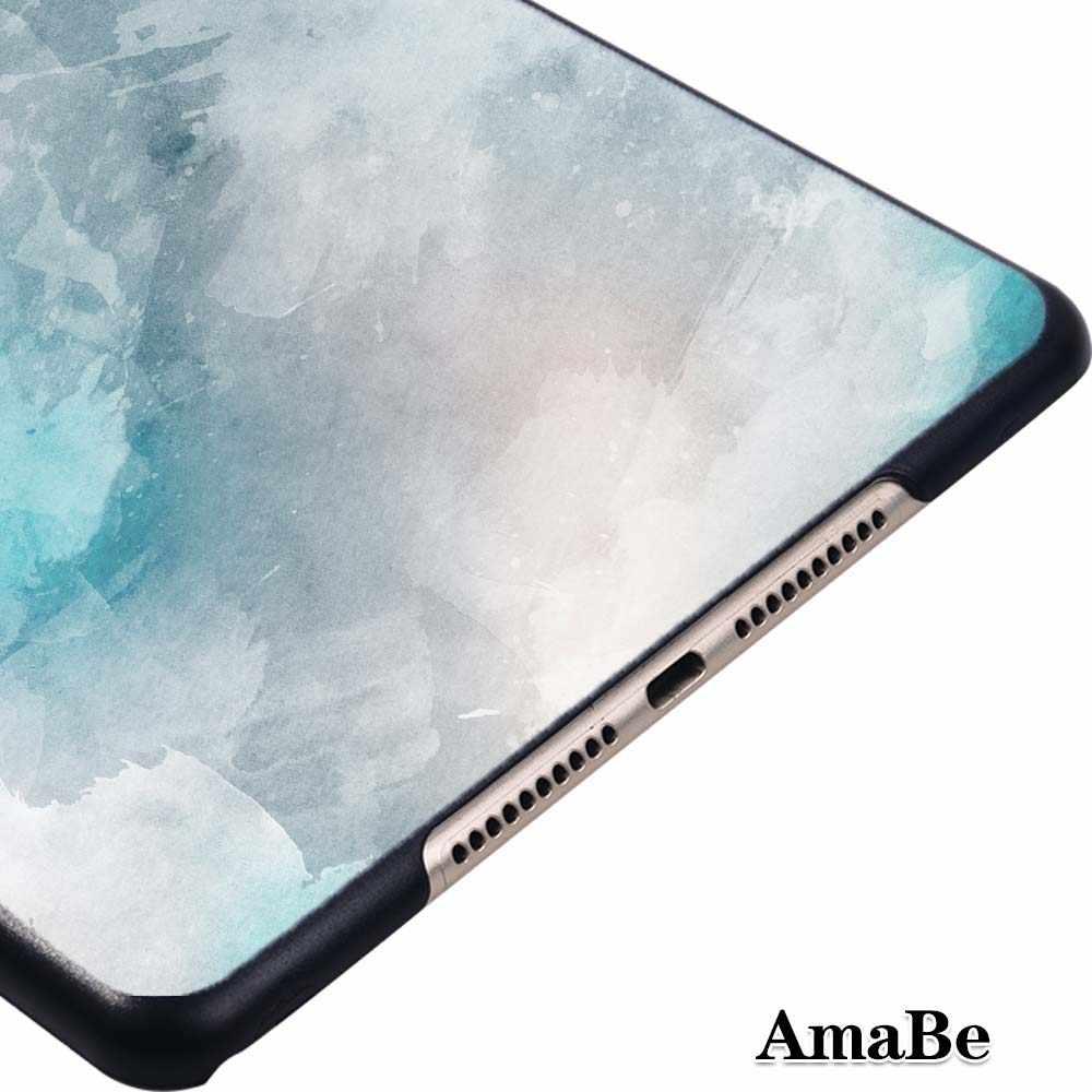 Capa de tablet resistente para apple ipad mini 4 (2015) /mini 5 (2019) -capa plástica do concha do padrão da pena