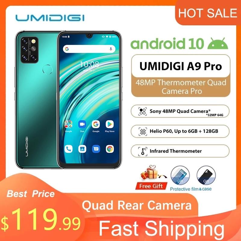 UMIDIGI A9 Pro 4/6 ГБ 64/128 ГБ глобальная версия 6,3 дюйма смартфон с четырехъядерным процессором Helio P60, восьмиядерным процессором 24 МП, селфи камера FHD ...