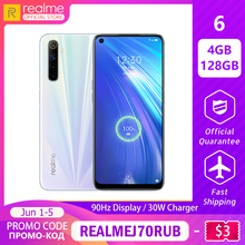 realme 6 Mobile Phone Global Version 4GB RAM 128GB ROM
