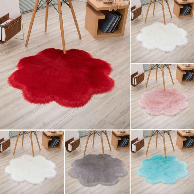 פרח צורת פלאפי שטיחים נגד החלקה שאגי אזור שטיח אוכל חדר שטיח רך רצפת מחצלת בית חדר שינה