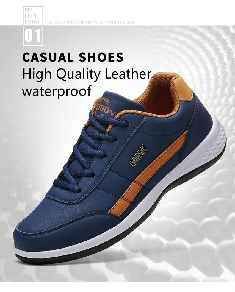 H79287608c61d4cee98153c082bfcce4ca - Yhebke Fashion Men Sneakers for Men Casual Shoes Breathable Lace up Mens Casual Shoes Spring Leather Shoes Men chaussure homme