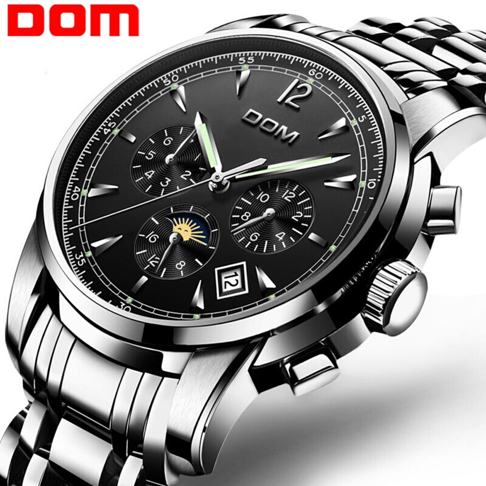 2019 new Mechanical Watches Sport DOM Watch Men  Waterproof Clock Mens Brand Luxury Fashion Wristwatch Relogio Masculino